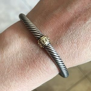 David Yurman 5mm Cable Cuff Bracelet 14k Gold
